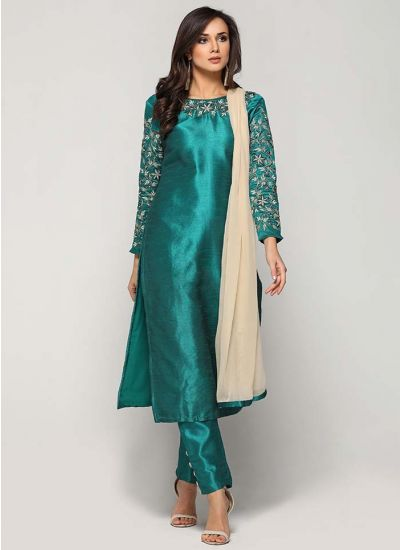 Rama Silk Embellished Trouser Suit