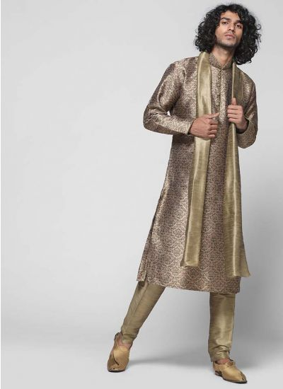 Brocade Silk Kurta Set