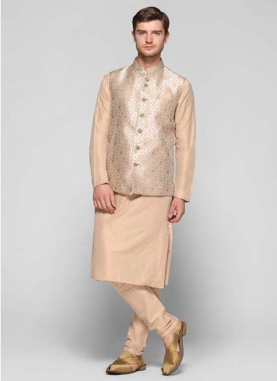 Brocade Jacket Churidaar Kurta Set