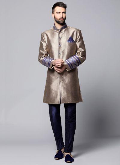 Antique Silk Jacket Suit Set