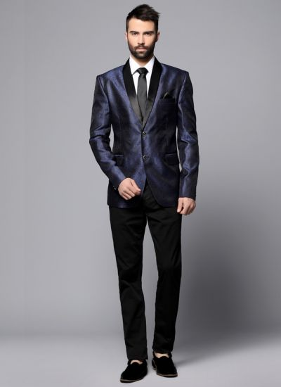 Blue Brocade Blazer