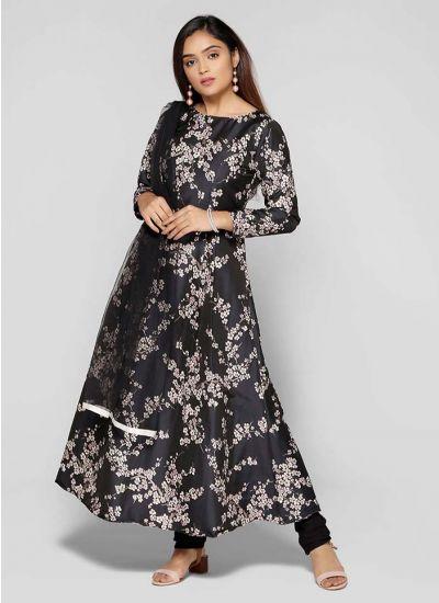 Petite Floral Brocade Suit