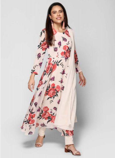 Petite Bold Printed Rose Dress