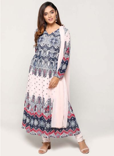 Petite Baby Pink Intricate Paisley Print Dress