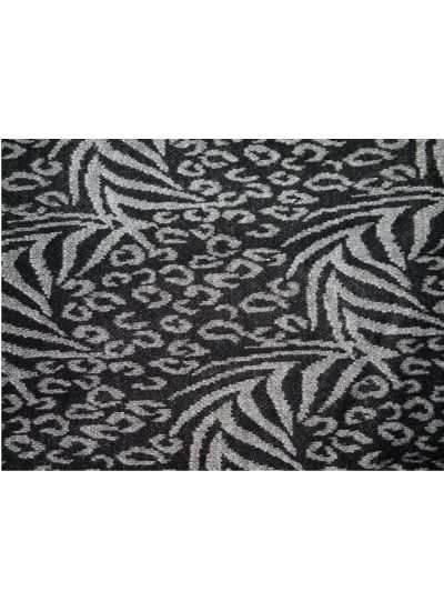 Grey & Black Abstract Woven Shawl