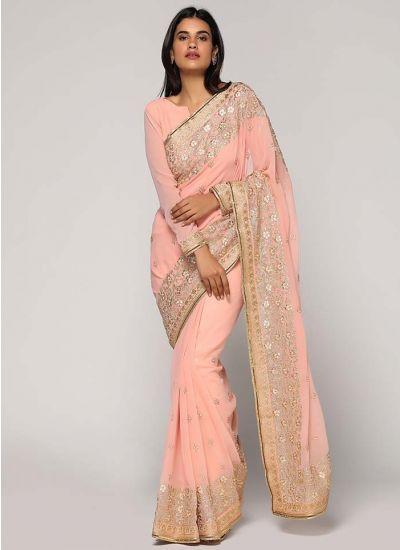 Resham Zari Embellished Saree