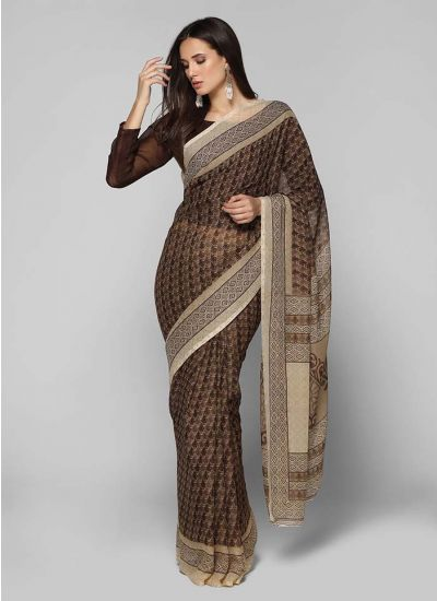 Traditional Motif Print Saree