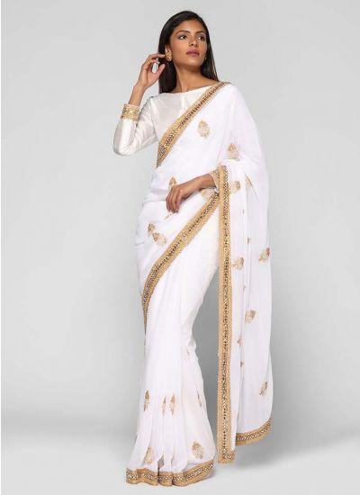 Embellished Motif Saree