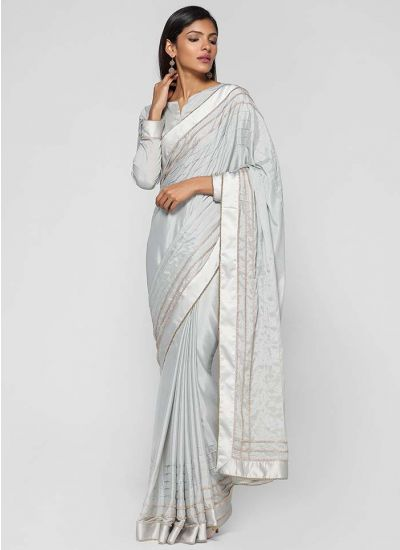 Zircon Pleated Saree