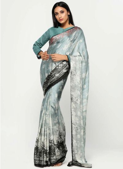 Quaint Satin Shaded Saree