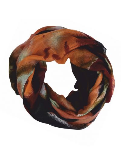 Rust Abstract Print Scarf