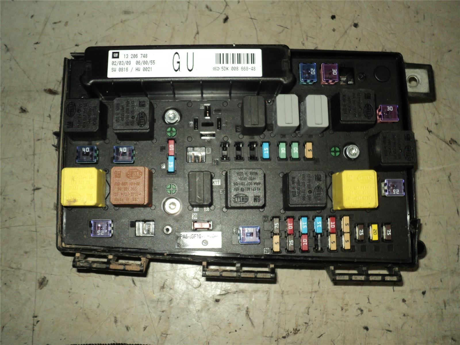 Vauxhall Astra 2006 To 2011 Fuse Box  Diesel    Manual  For