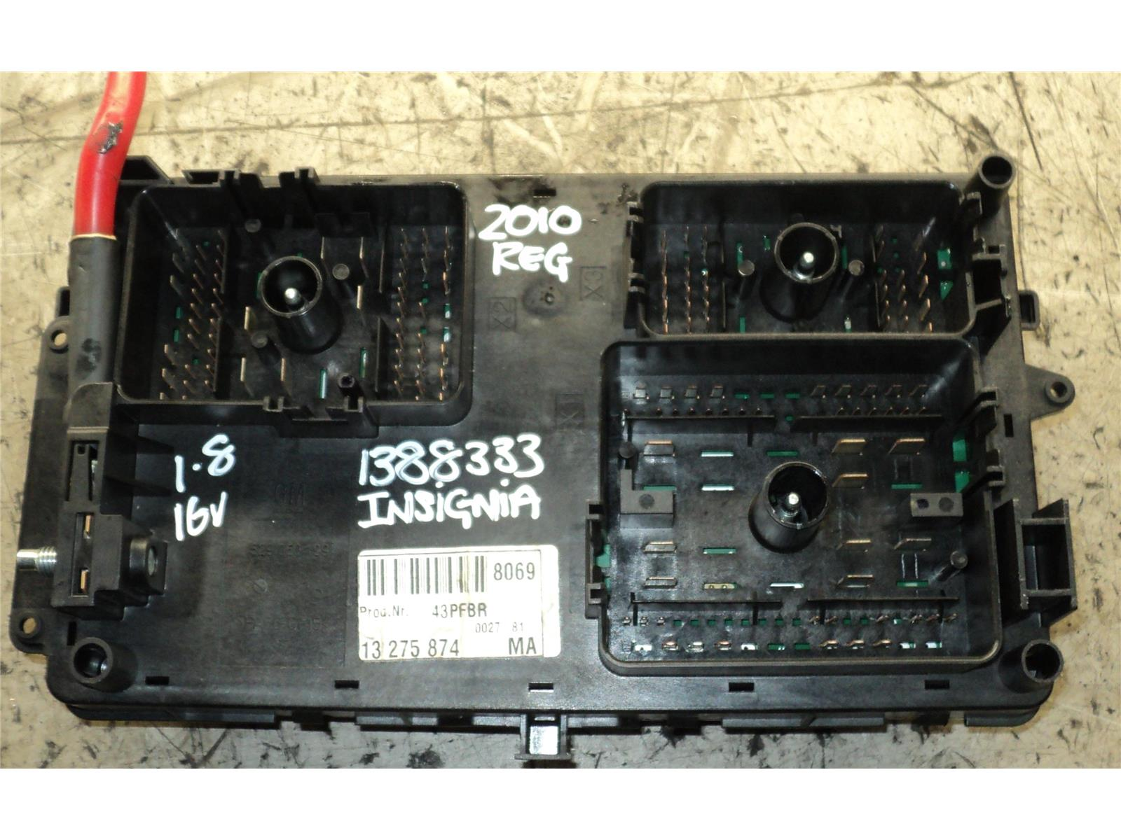 ... FUSE BOARD 2009 To 2013 Vauxhall Insignia Petrol Fuse Box & WARRANTY -  1185686 ...