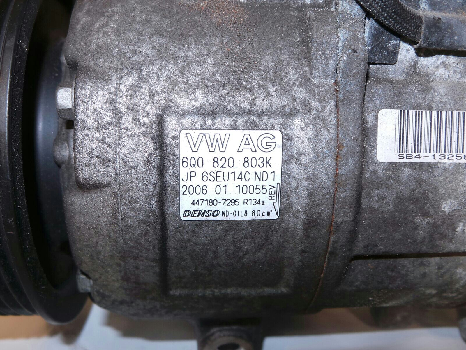 Volkswagen Polo 2005 To 2009 Air Conditioning Compressor Petrol Kompresor Vw Denso Ac Con 6q0820803k 5081937