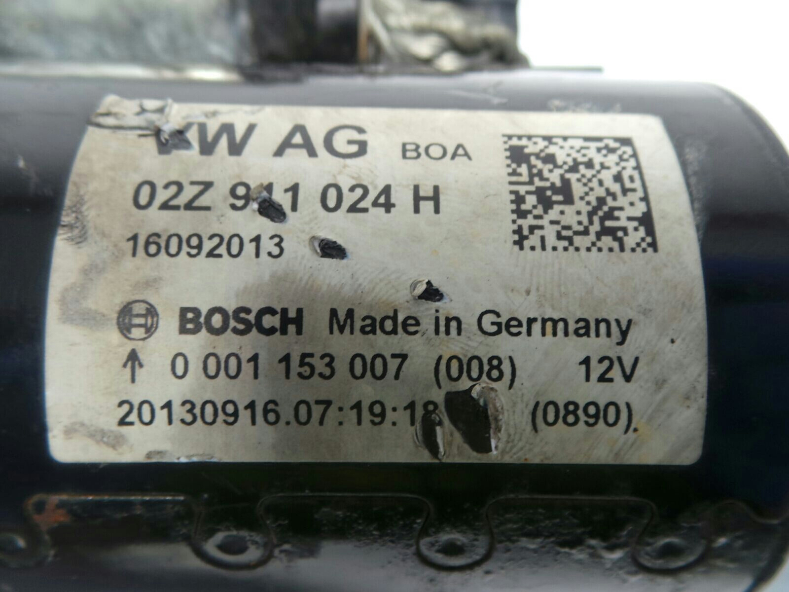 Volkswagen Caddy Maxi C20 2011 To 2015 Starter Motor Diesel Vw Fuse Box 2012 15 16 Manual Cayd Warranty 5135095