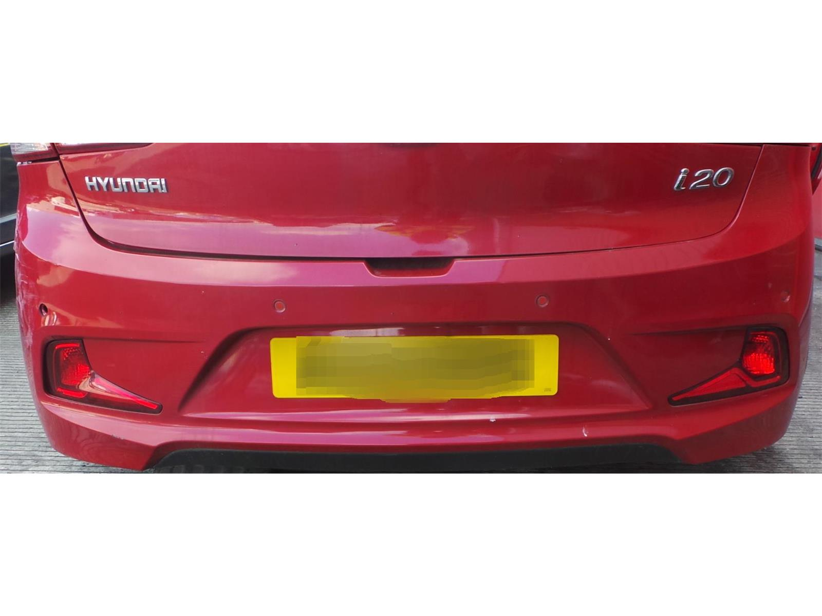 ... REAR BUMPER Hyundai i20 2015 On SE 3 Door Hatchback RED & WARRANTY -  5132250 ...