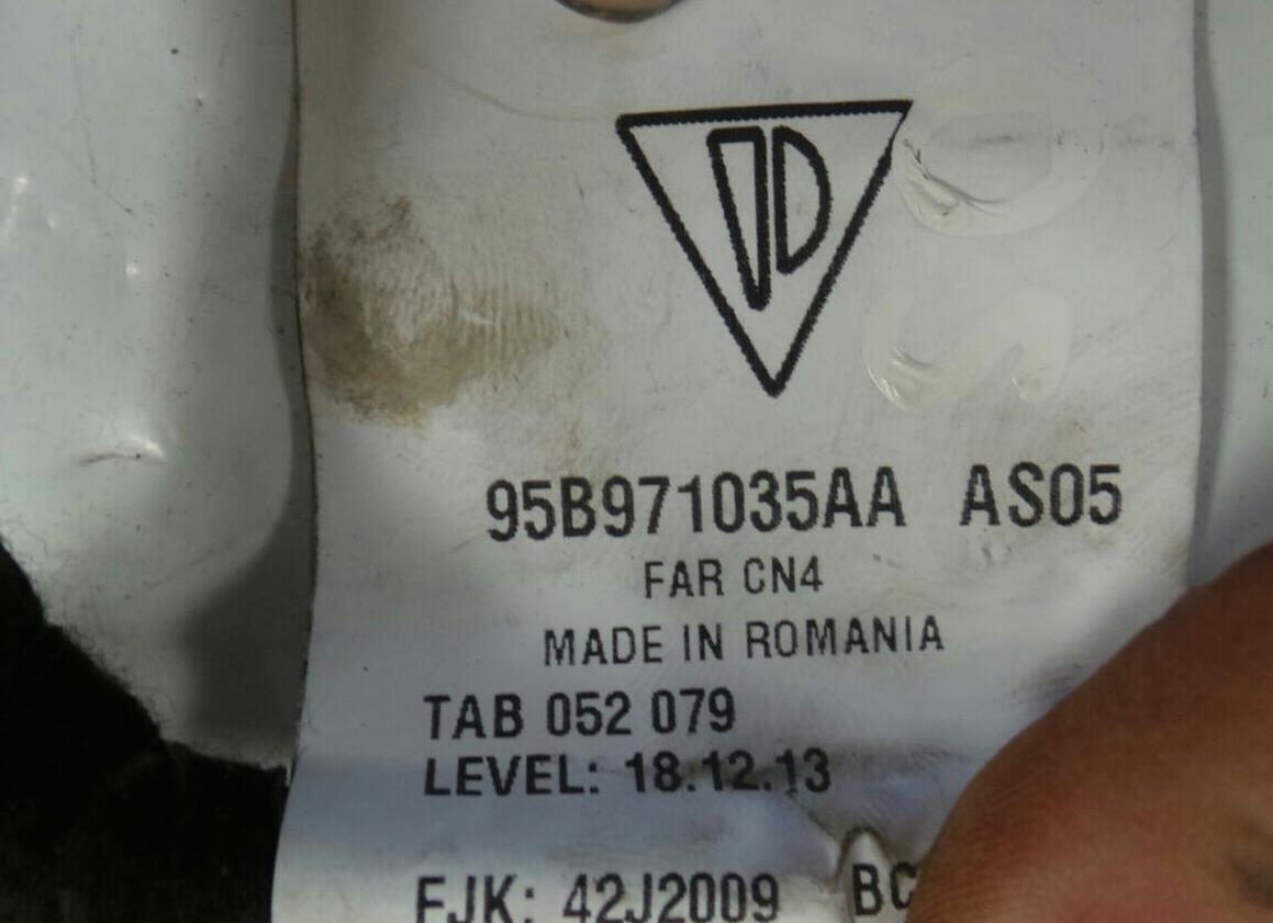 Porsche Macan 2014 On Wiring Harness Door Front Diesel Automatic Loom Labels Genuine Drivers Warranty 5134449