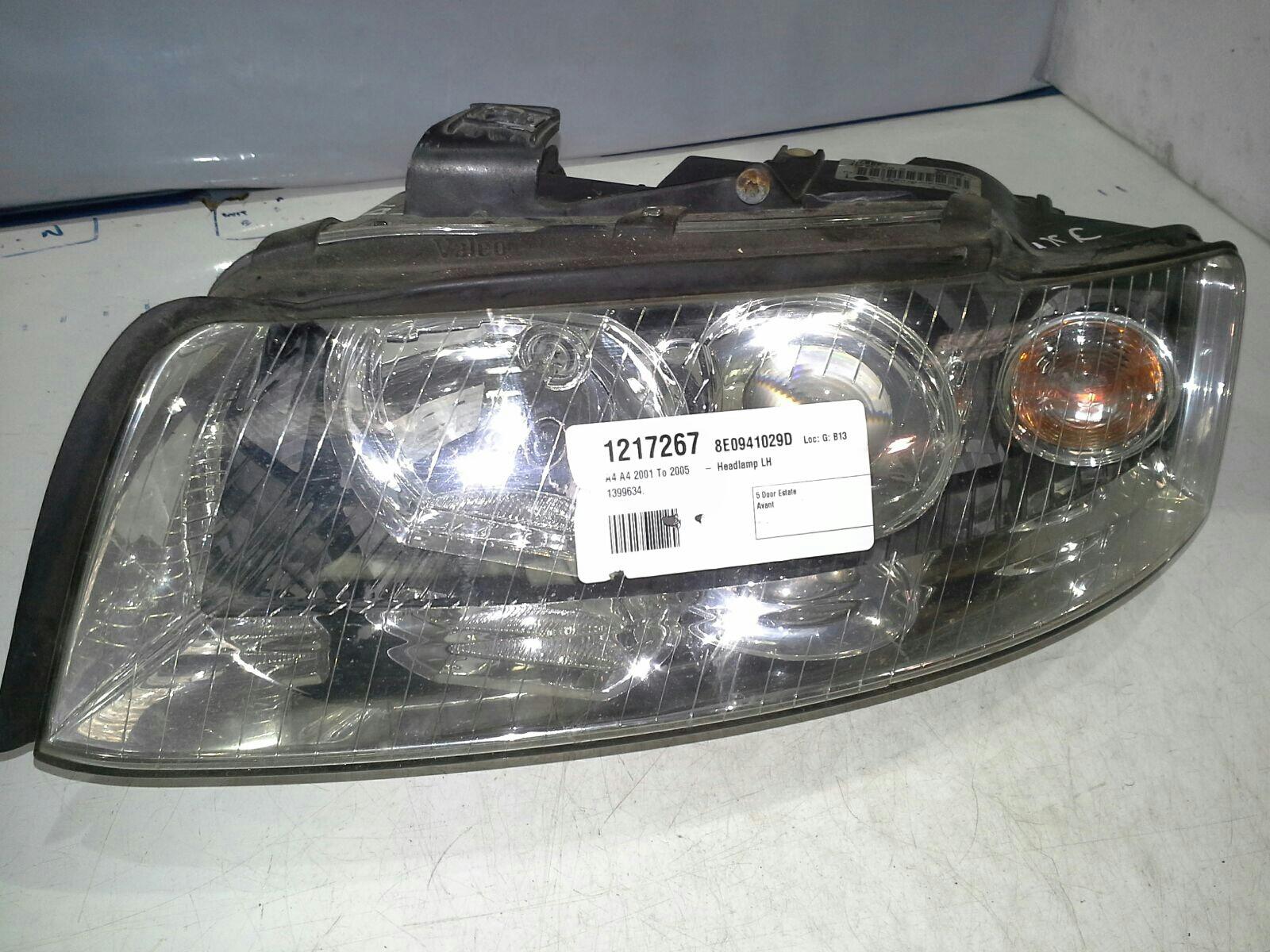 PASSENGER HEADLIGHT Audi A4 01-05 & WARRANTY - 1217267