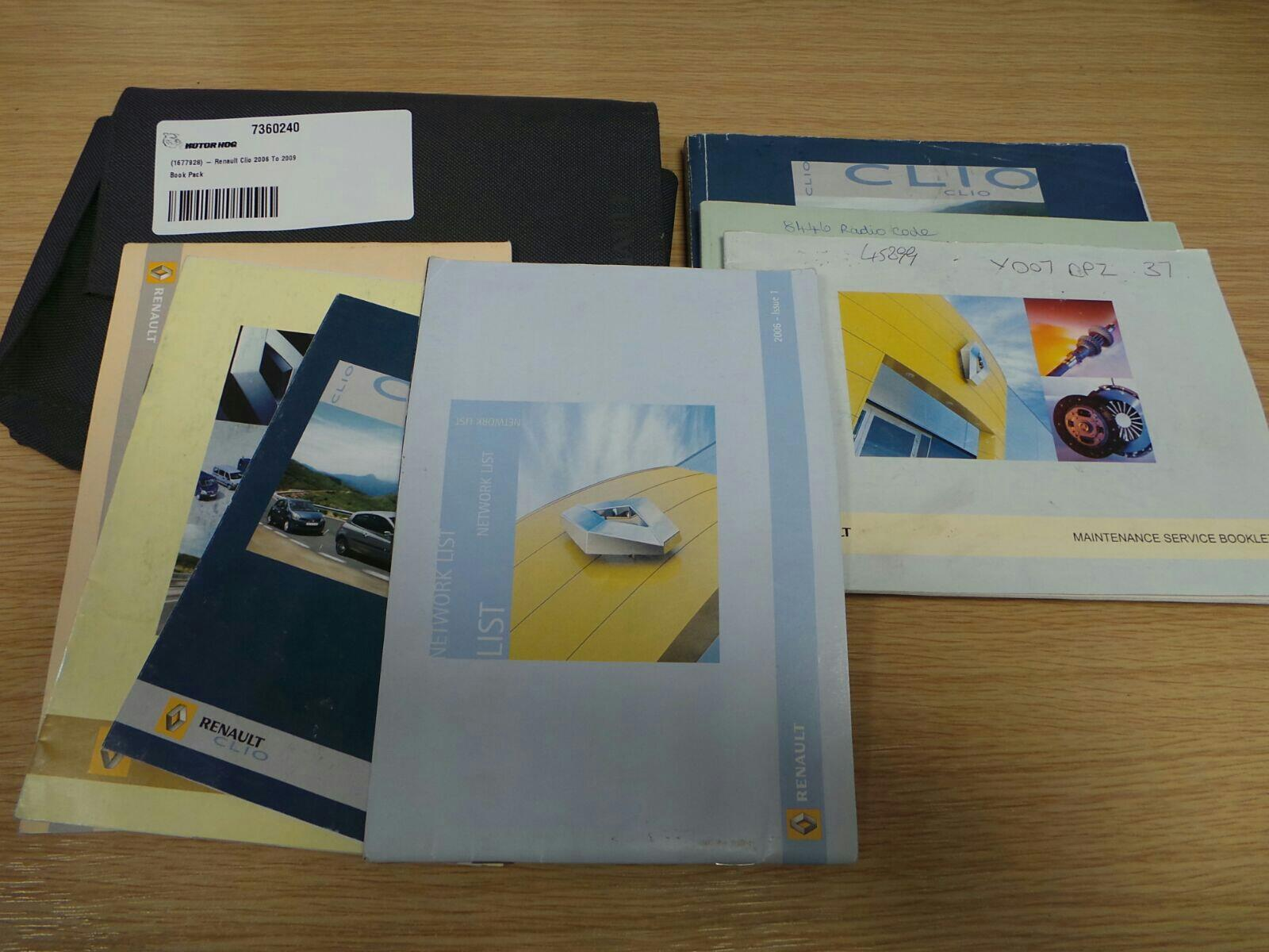 Renault Clio 2006 To 2009 Book Pack (Petrol / Manual) for sale from