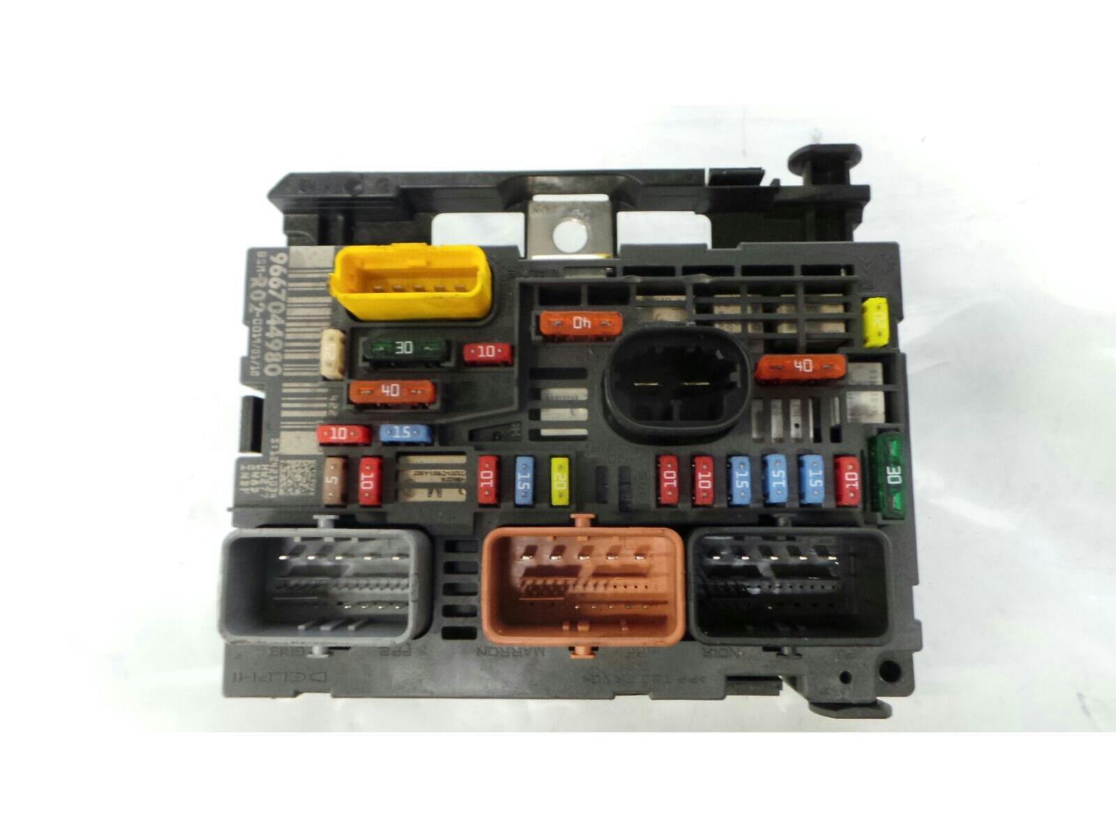 fuse board 2004 to 2008 peugeot 407 diesel fuse box & warranty -