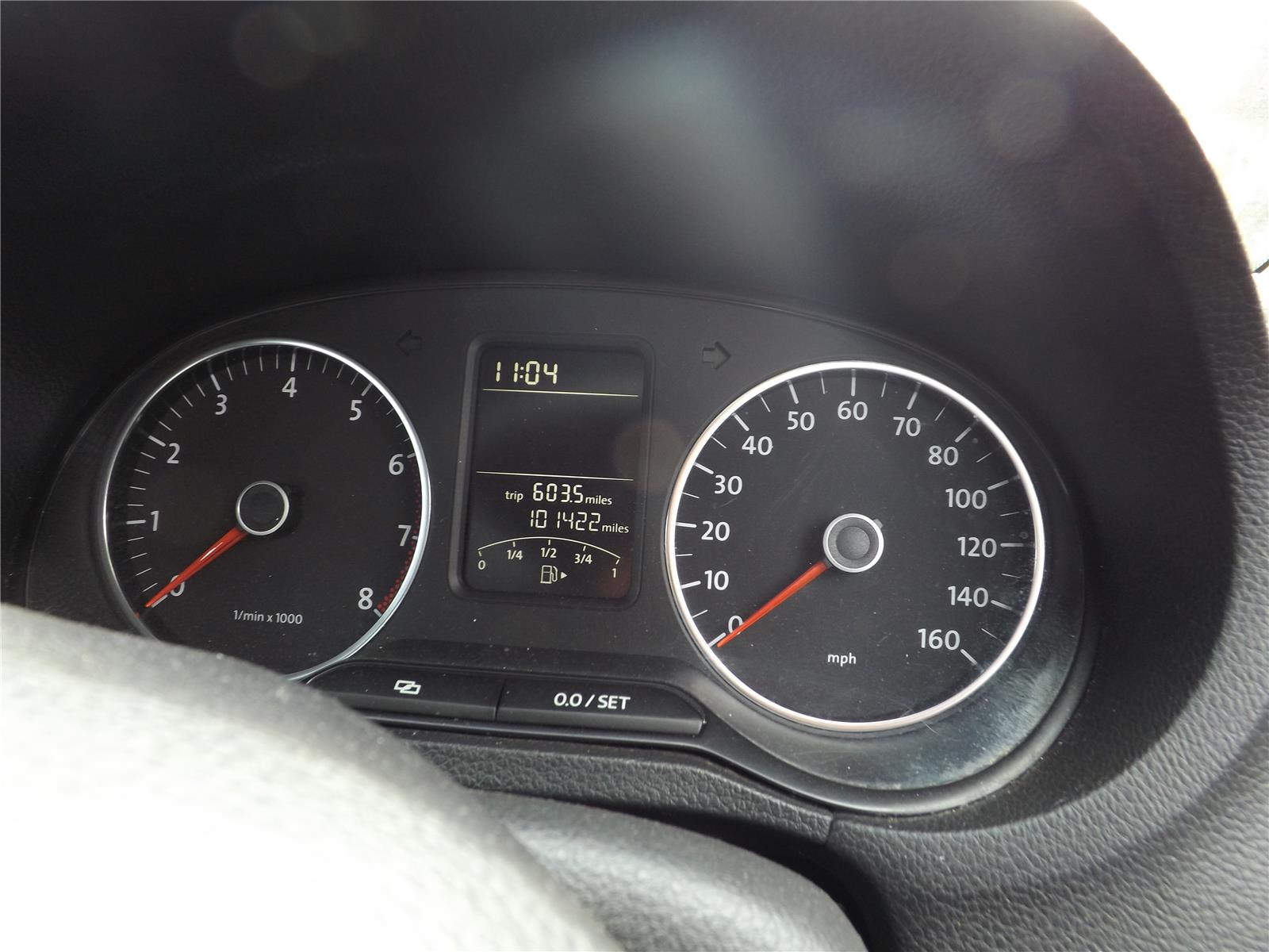 Volkswagen Polo 2010 To 2014 Instrument Cluster (Petrol / Manual