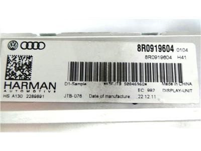 Audi 8R0919604 Harman tested in vehicle  not coded  plug and play