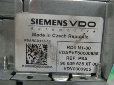 Peugeot 96 639 628  xt rd4  vin coded  tested ok