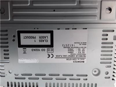 Ford Sony CDX-GT26 Headunit