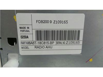 Ford Single CD Untested May Need Coding 8A6T-18C815-BP