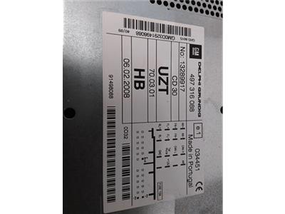 VAUXHALL 13289917 CD30