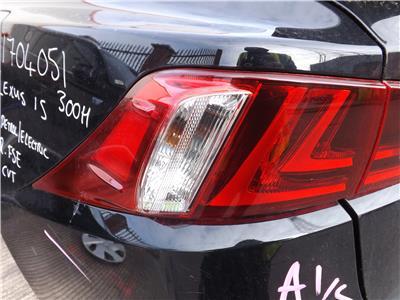 TAIL LIGHT Lexus IS Hybrid 13/16 300 F Sport 4 Door Saloon PASSENGERS - 11073987