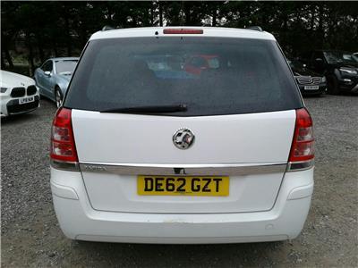 2012 Vauxhall Zafira Exclusiv Nav 1598 Petrol Manual 5 Speed M.P.V.