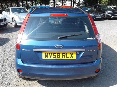 2008 Ford Fiesta Style 1242 Petrol Manual 5 Speed 5 Door Hatchback