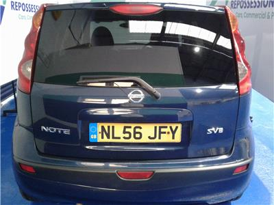 2006 Nissan Note SVE 1598 Petrol Manual 5 Speed 5 Door Hatchback