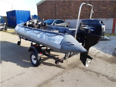 OTHER BRITISH 14FT RIB BOAT WITH PARSUN 25HP