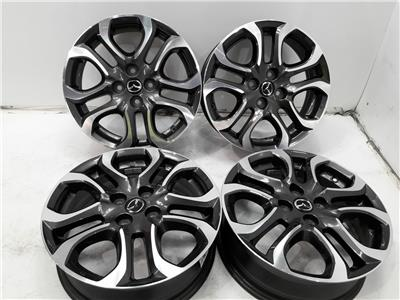 Set Of Genuine 16 Inch MAZDA 2 Alloy Wheels Rims 4x100 5.5x16 ET40 Set Of Four