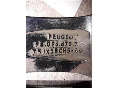 ALLOY WHEEL PEUGEOT 3008 18 Inch Rim   9809687371  - WHL130984