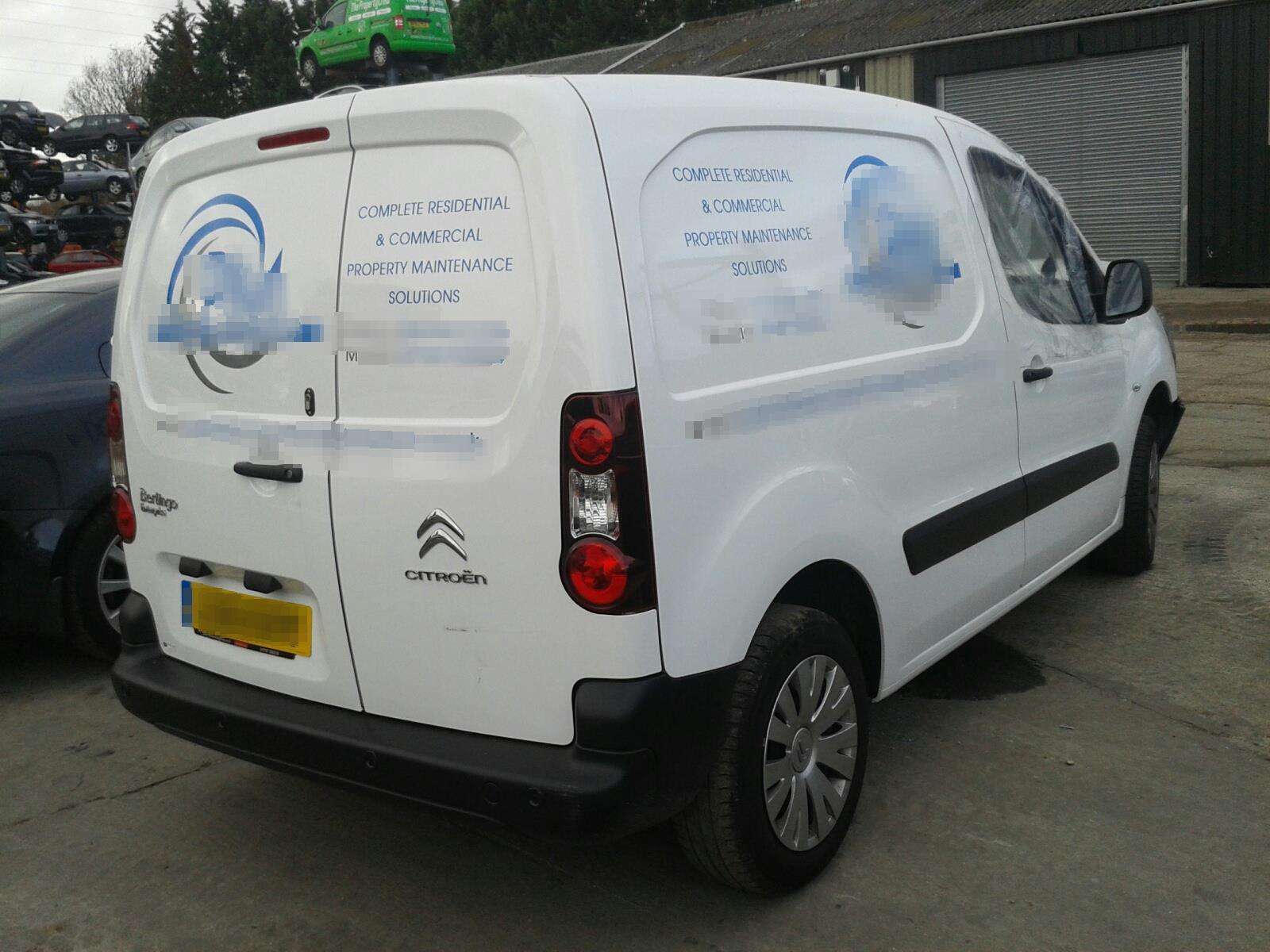 ... Citroen Berlingo 2015 On Van L/Side ...