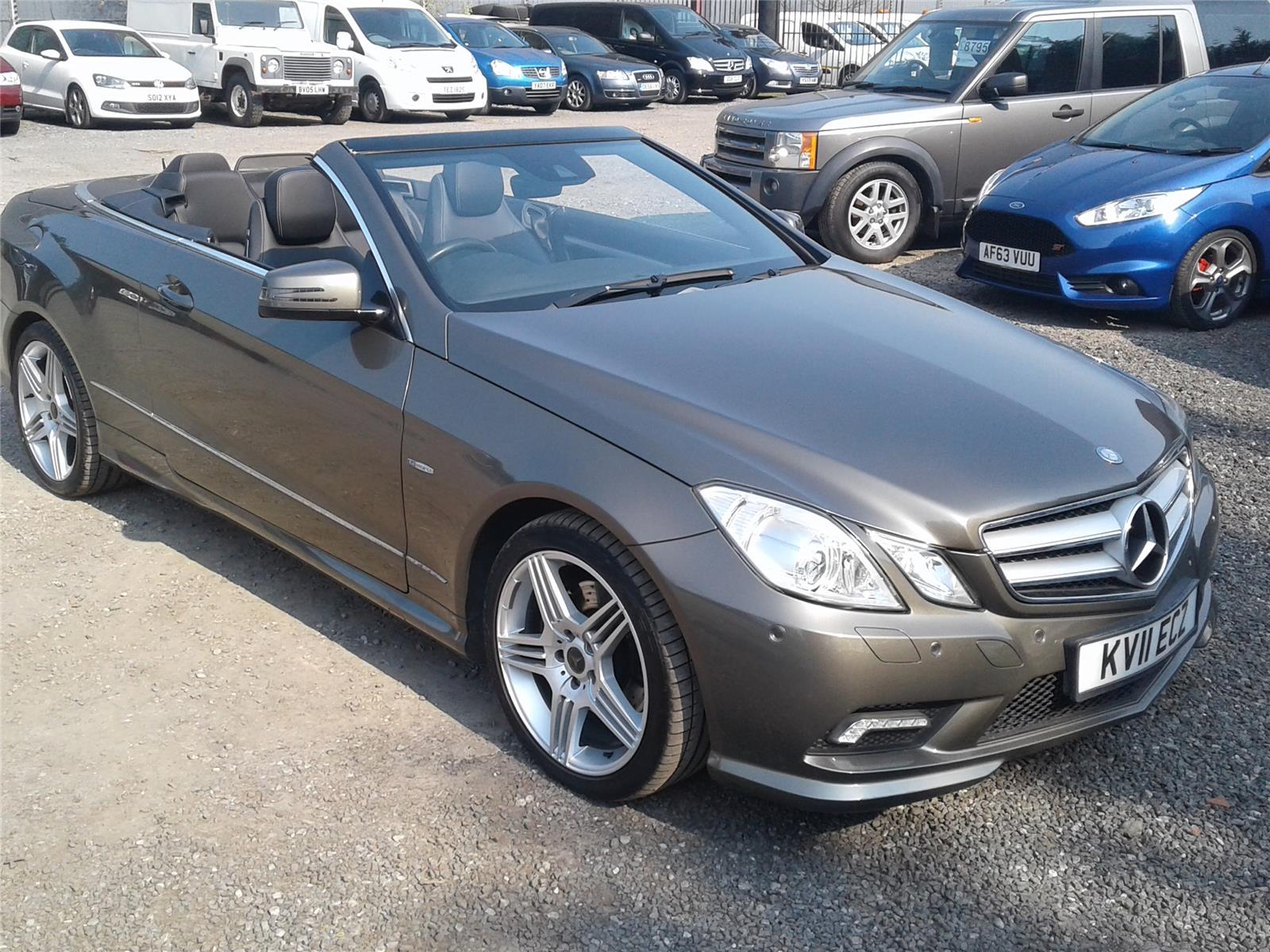 2011 Mercedes-Benz E Class E250 Sport CDi BlueEfficiency 2143 Diesel Automatic 5 Speed 2 Door Cabriolet