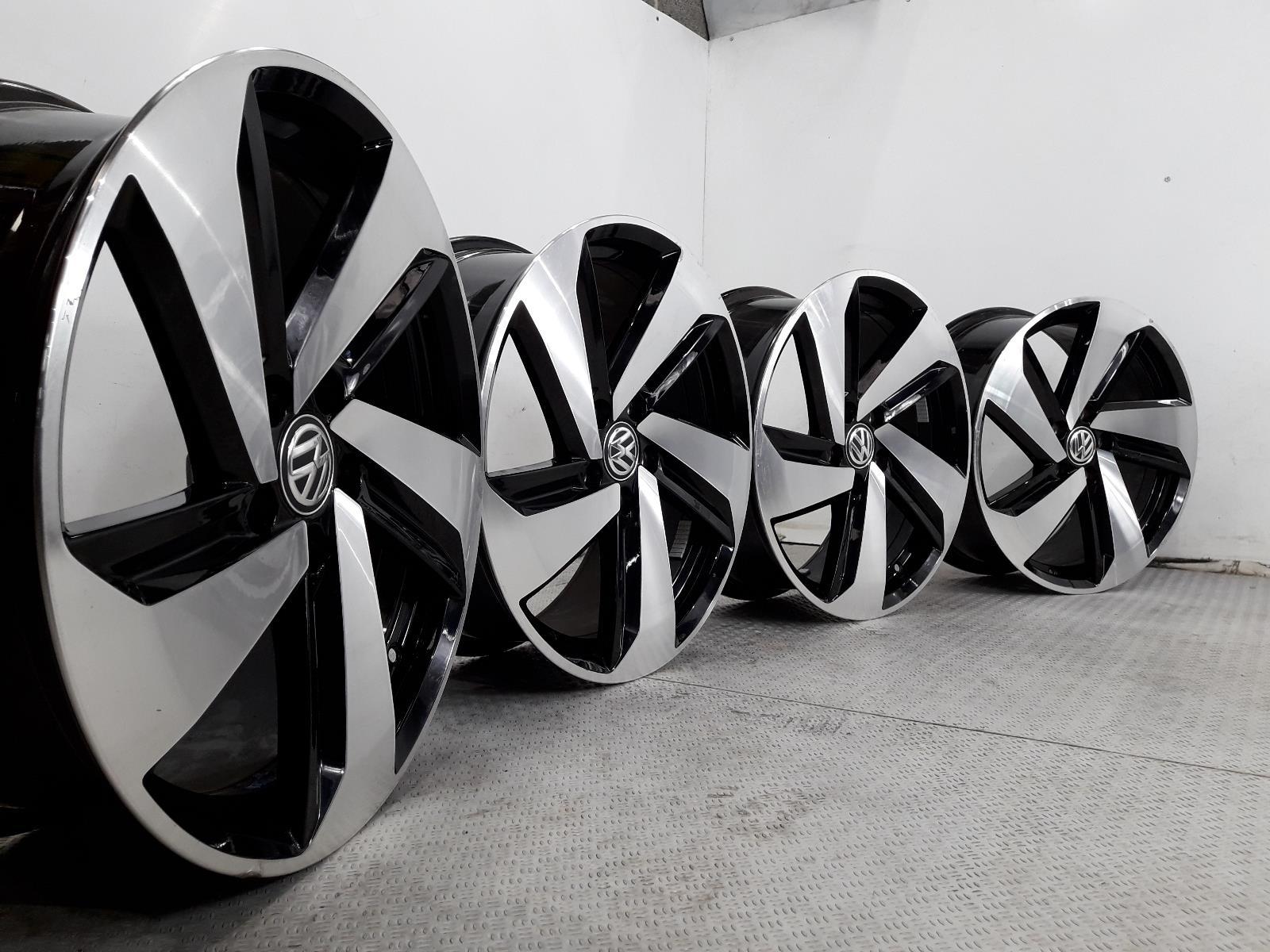 Set Of Genuine 18 Inch VOLKSWAGEN GOLF CADDY Alloy Wheels Rims 5x112 5G0601025CN