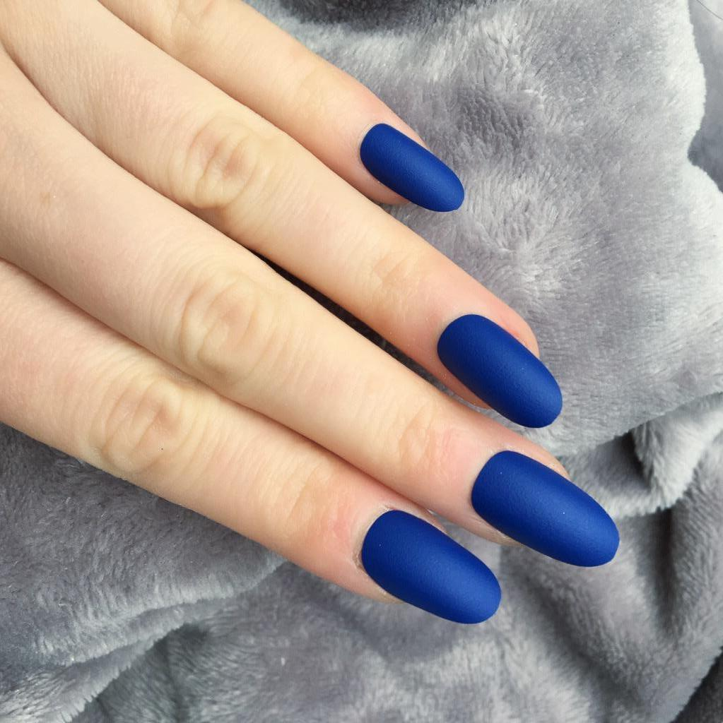 Electric Blue Matte Oval – Doobys Nails