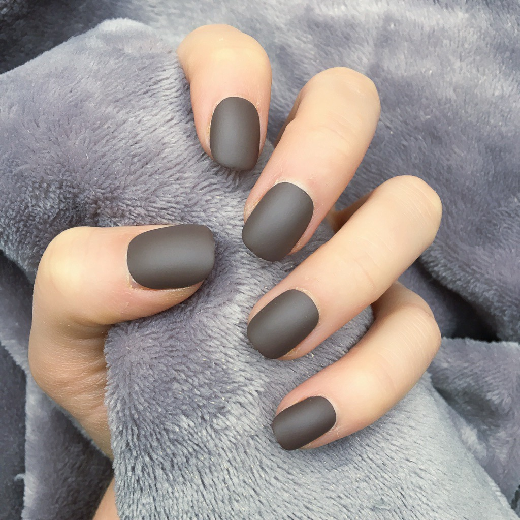 Brown Matte Short Round – Doobys Nails