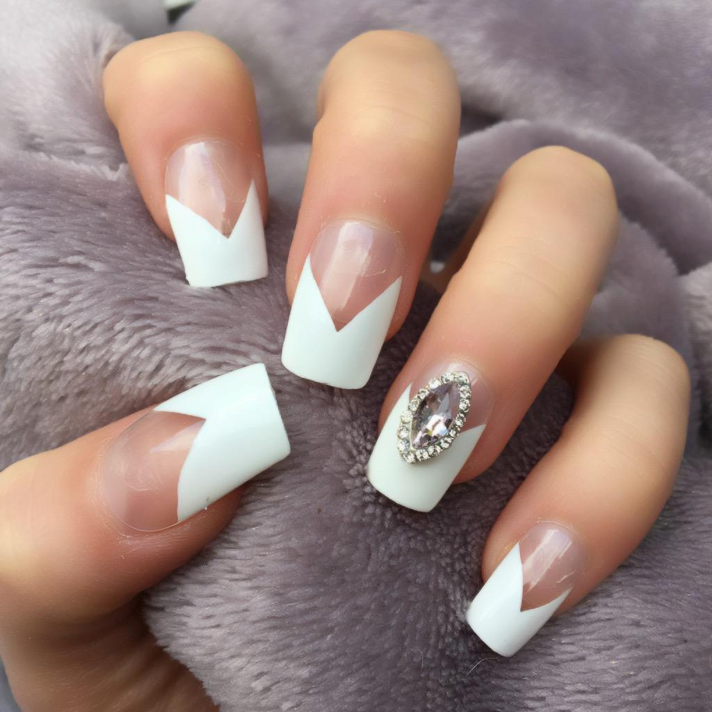 French Manicure RF Mimi Short Square – Doobys Nails