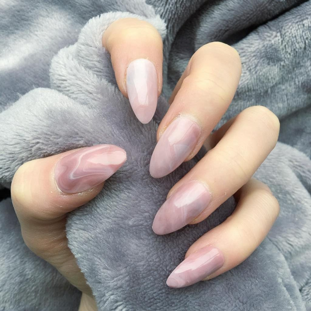 Pink Marble Gloss Almond