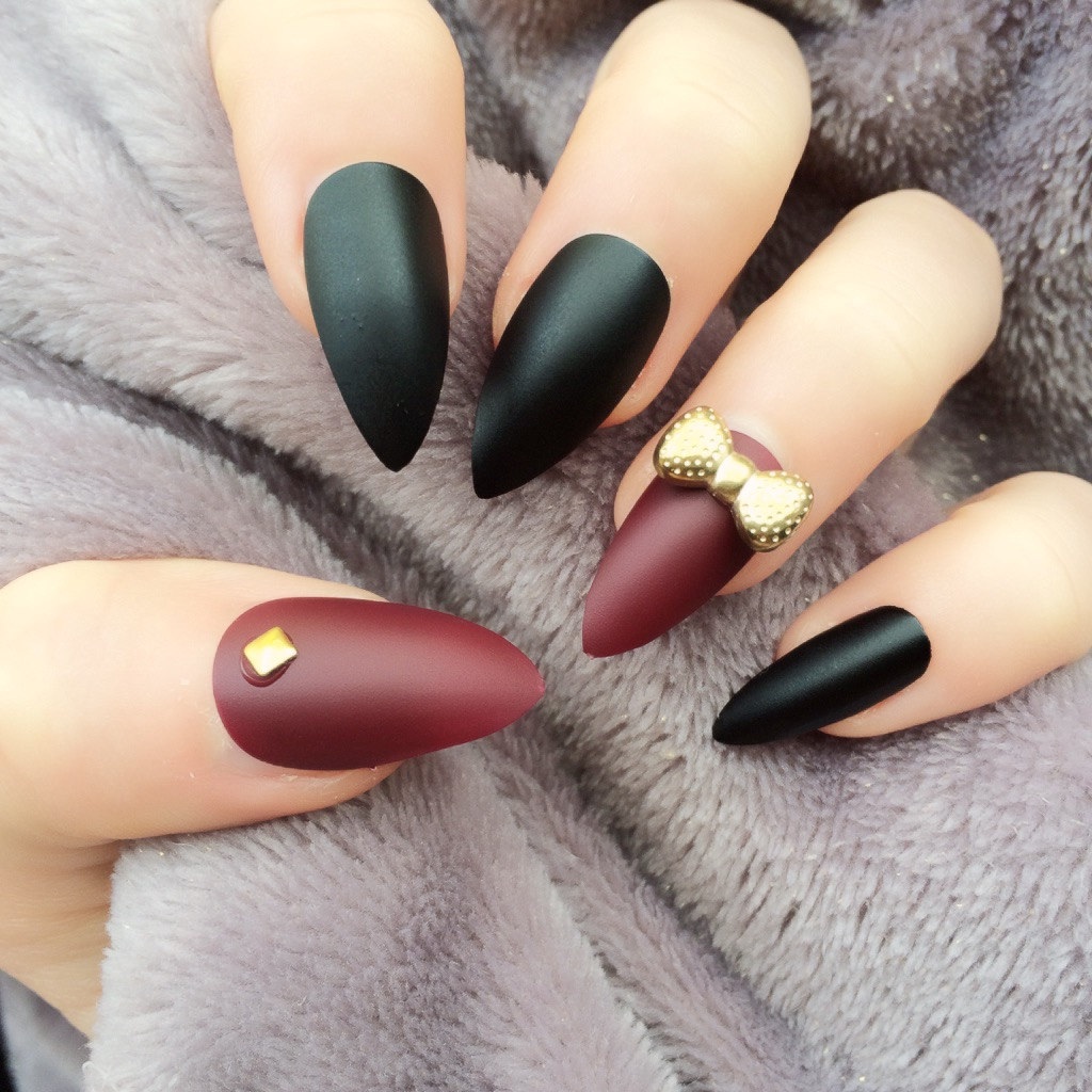Black And Red Stiletto Nails | Best Nail Designs 2018