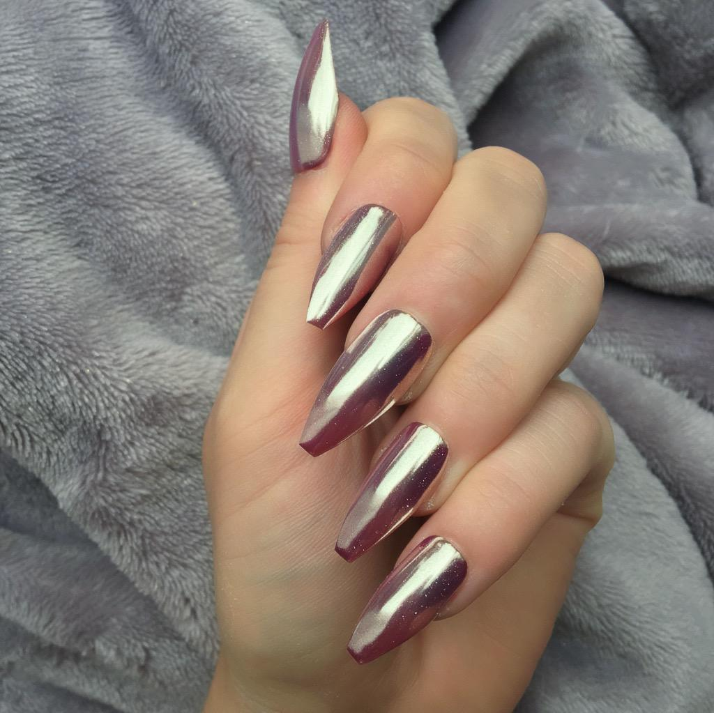 Rose Gold Mirror Long Coffin – Doobys Nails