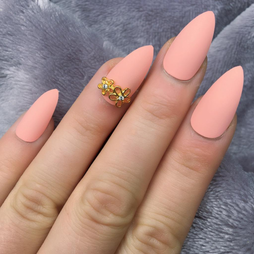 Peach Matte RF Daisy Stiletto