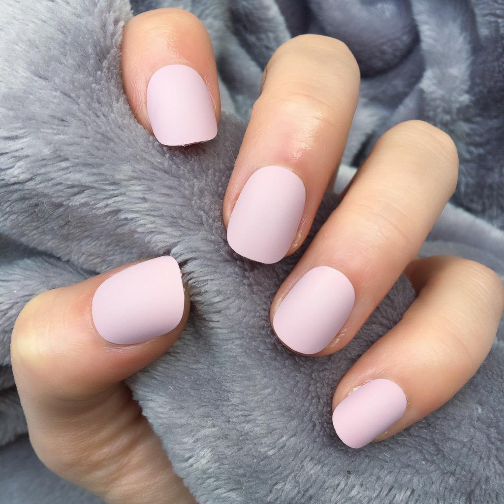 Candy Pink Matte Short Round – Doobys Nails
