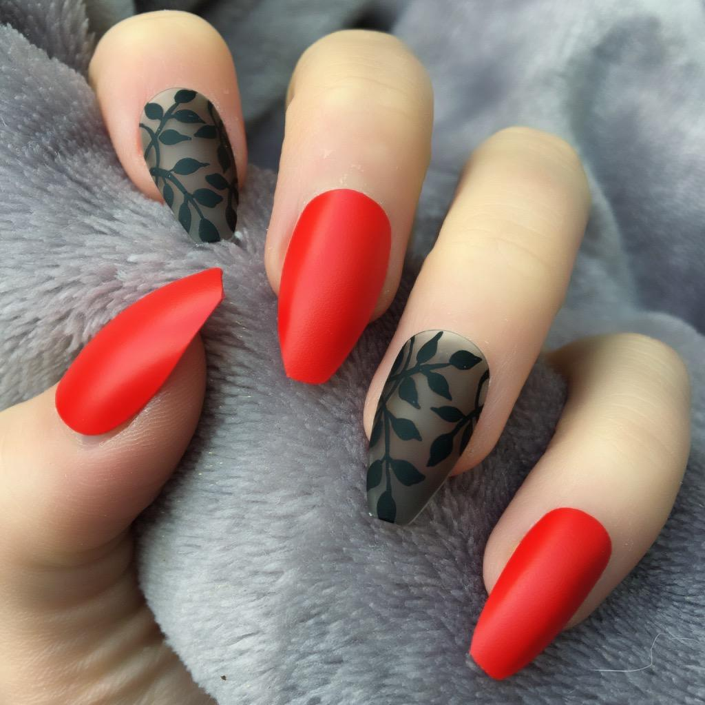 Hot Red Matte Dainty Coffin – Doobys Nails