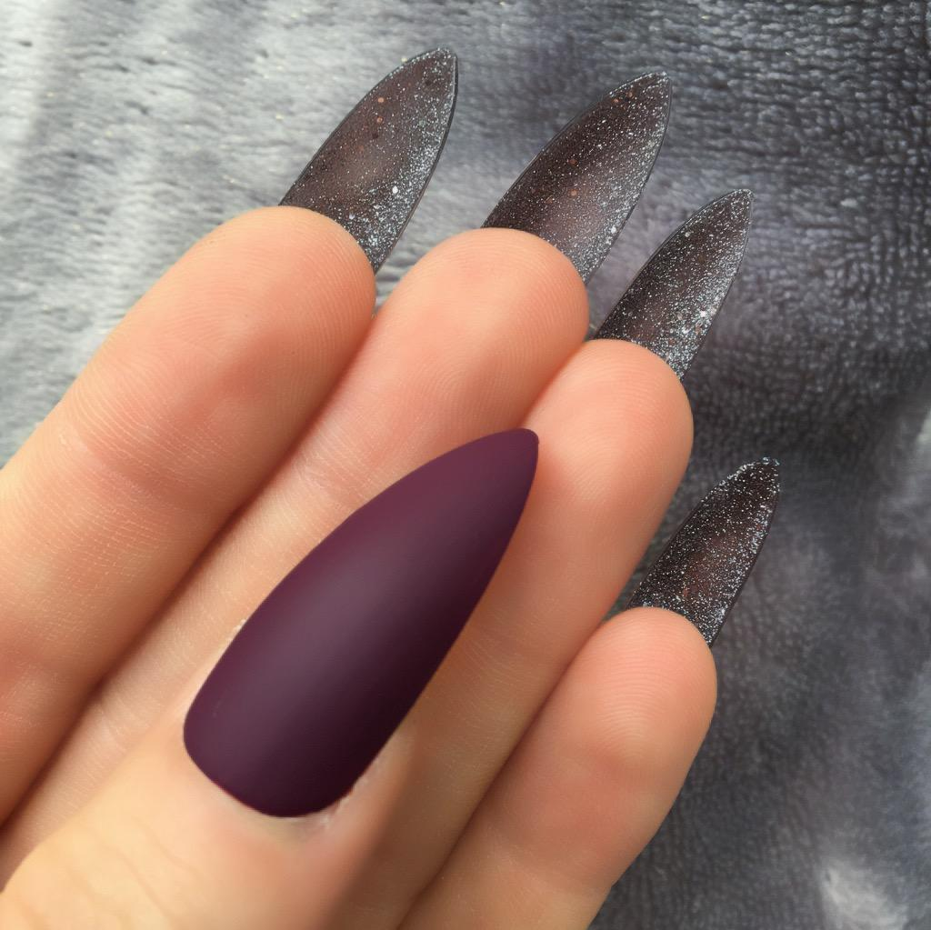Maroon Matte Diamond Bottom Long Stiletto